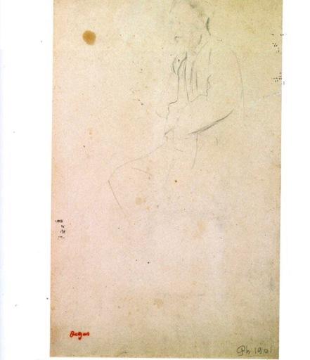 Edgar DEGAS - Dessin-Aquarelle - Portrait d'Eugéne Manet