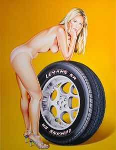 Mel RAMOS - Druckgrafik-Multiple - Tyra Tyre