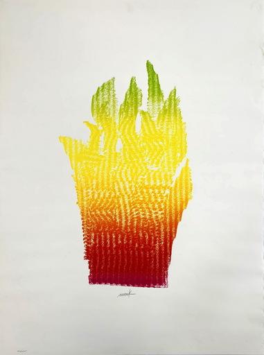Heinz MACK - Print-Multiple - Flammenhand
