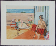 Henri MATISSE - Print-Multiple - Odalisque on the Terrace | Odalisque sur la Terrasse