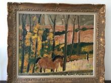 安德烈·布拉吉利 - 绘画 - Cheval en sous-bois