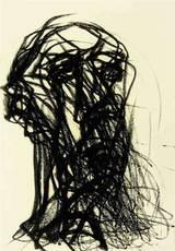 Max UHLIG - Drawing-Watercolor - New Yorker Kopf