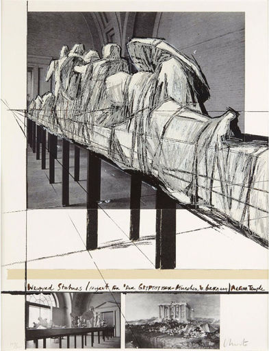 CHRISTO - Stampa-Multiplo - Wrapped Statues