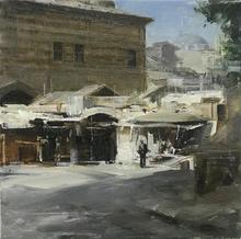 Alexey ALPATOV - Painting - Egyptian market in Istanbul