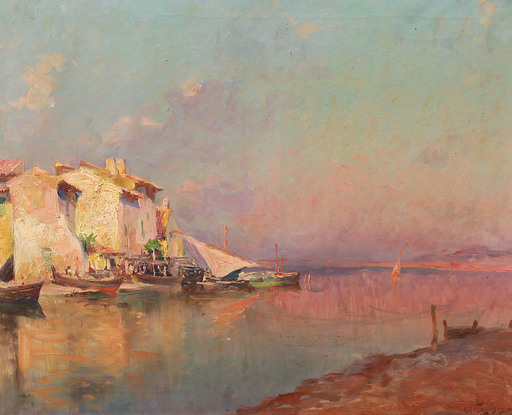 Antoine PONCHIN - Painting - Les martigues