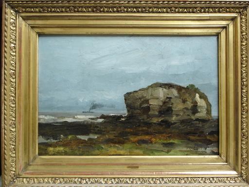 Léonce CHABRY - Painting - La roche isolée à Vallières