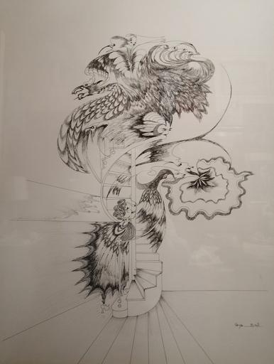 Maya BELL - Dibujo Acuarela - Oiseaux suuréalistes