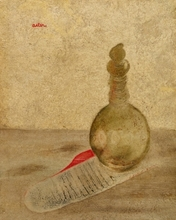 Jankel ADLER - Painting - Still Life with a Bottle