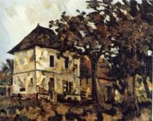 Pierre Jean DUMONT - Peinture - Maisons de campagne