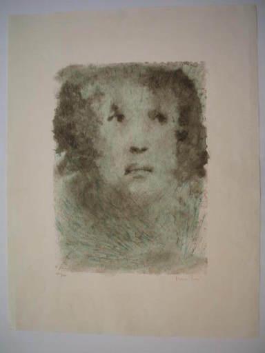 Leonor FINI - Print-Multiple - Visage bleu,1975.