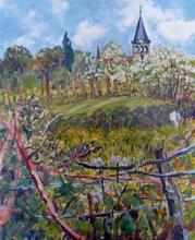 Anne DE LARMINAT - Painting - Le Clocher