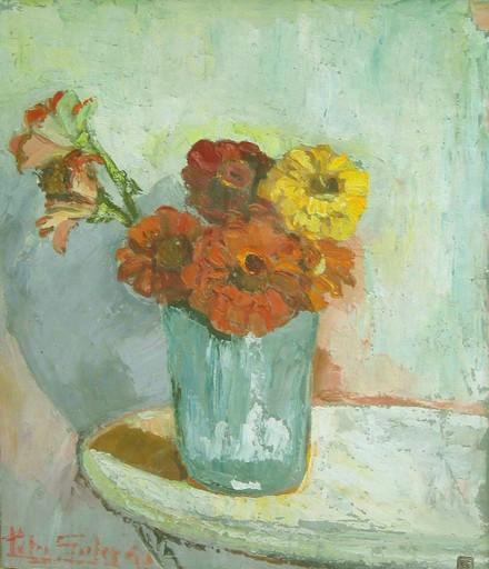 Petry SALCEDO - Painting - Jarrón con flores