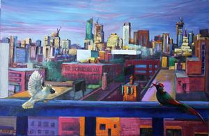 ZHENG Judy C. - Gemälde - Home No.1