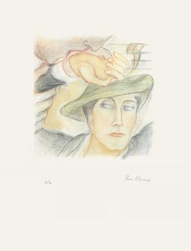 Pierre KLOSSOWSKI - Grabado - Portrait de Roberte