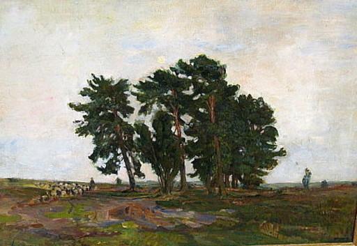 Emil Leonhard SMIDT - Peinture - Abend in der Heide.