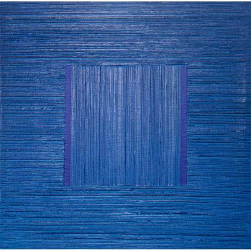 Gianfranco ZAPPETTINI - Painting - Quadrato Blu 07/11/03