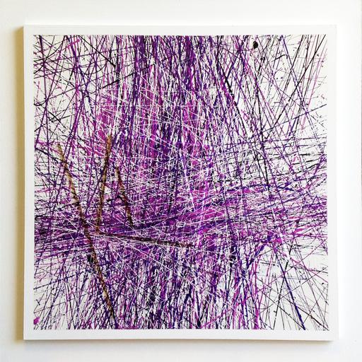 Michel BISBARD - Peinture - Dripping violet