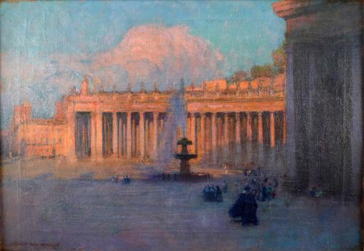 Gustavo BACARISAS PODESTA - Gemälde - Saint Peter's Square, Rome