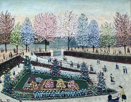 Jean BUSQUETS - 绘画 - Le jardin des tuilleries à Paris