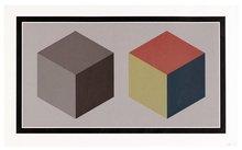索尔·勒维特 - 版画 - two cubes