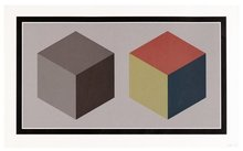 Sol LEWITT - Print-Multiple - two cubes