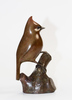 François GALOYER - Sculpture-Volume - Mésange huppée Bronze