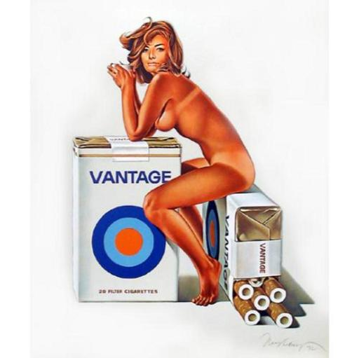 Mel RAMOS - Druckgrafik-Multiple - Tobacco Red / Vantage