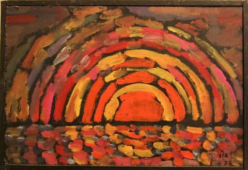 Jules PARESSANT - Painting - coucher de soleil à Quimiac