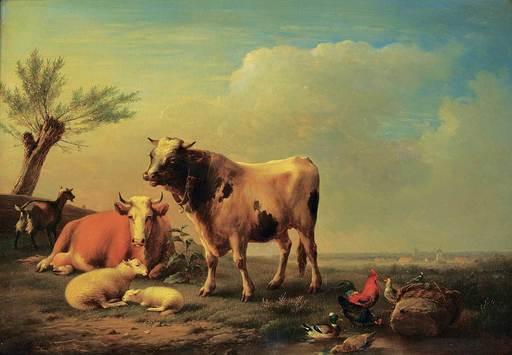 Eugène VERBOECKHOVEN - Pintura - Untitled - A Quiet Afternoon