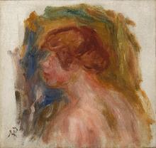 Pierre-Auguste RENOIR - Peinture - Buste de jeune femme