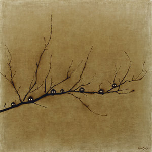 Rinat VOLIGAMSI - Pittura - On a Branch