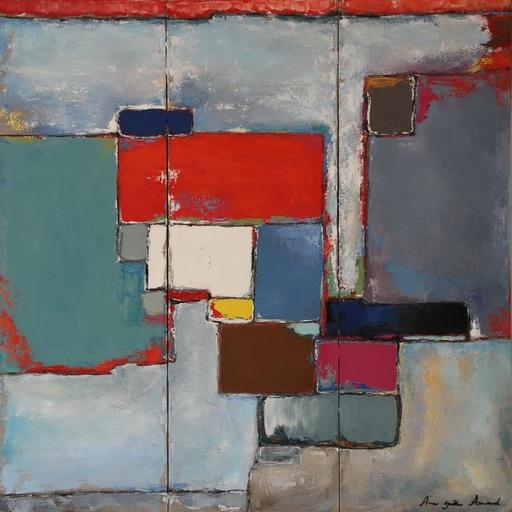 Anne-Gaëlle ARNAUD - Painting - Triptyque carmin