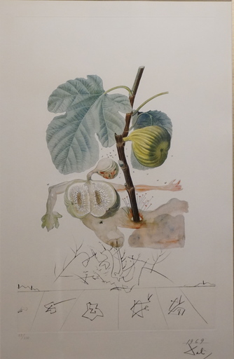 Salvador DALI - Estampe-Multiple - FlorDali/Les Fruits Fig