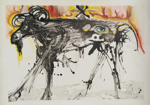 Salvador DALI - Stampa-Multiplo - The Ram (Homage to Gerrit Dou)