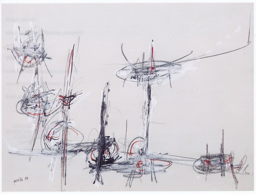 Achille PERILLI - Peinture - senza titolo