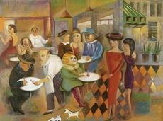 Jacob GILDOR - Pintura - Cafe Naive