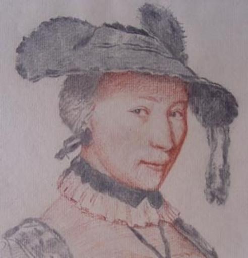 Jean-Michel LIOTARD - Dibujo Acuarela - Portrait de la femme de J.-E. Liotard