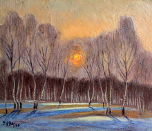 "Valeriy NESTEROV - Gemälde - ""Moscow. Sunset in Troparevo"""