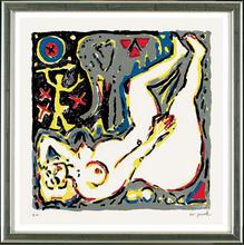 A.R. PENCK - Estampe-Multiple - Die Frau und der Elefant