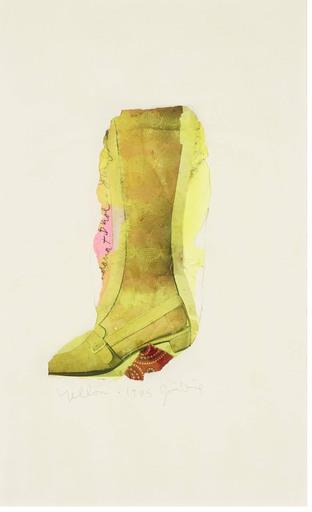 Jim DINE - Drawing-Watercolor - Yellow