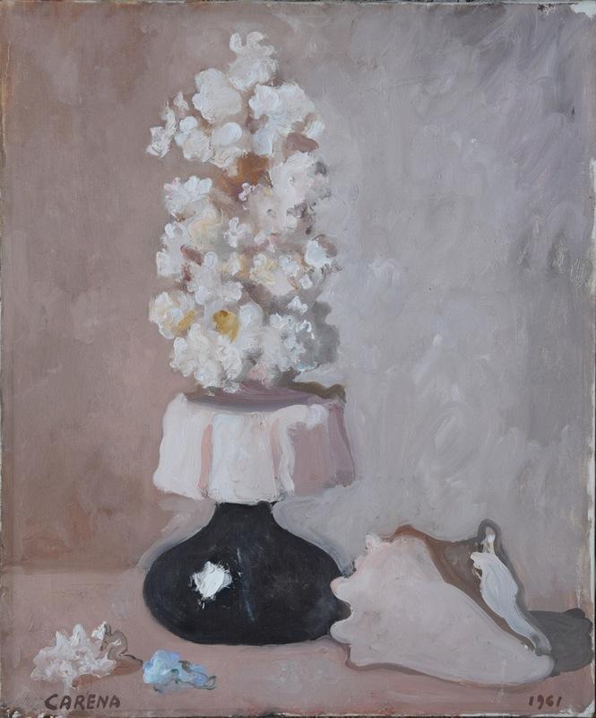 Felice CARENA - 绘画 - Vaso di fiori