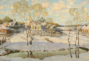 Konstantin Ivanovich GORBATOV, View of a Church, Winter