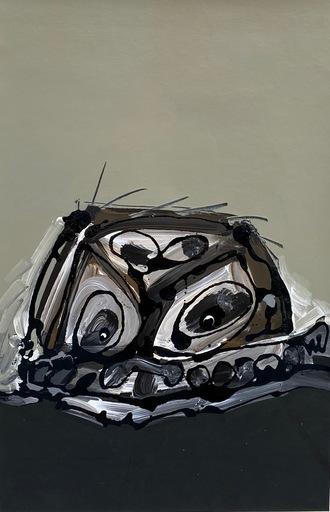 Antonio SAURA - Painting - Retrato imaginario De Goya