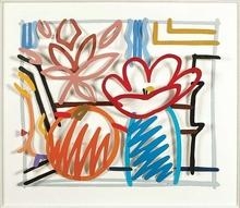 汤姆•韦瑟尔曼 - 雕塑 - Maquette for still life with orange and tulip doodle