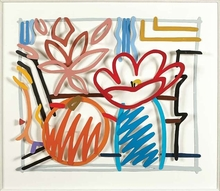 Tom WESSELMANN - Sculpture-Volume - Maquette for still life with orange and tulip doodle