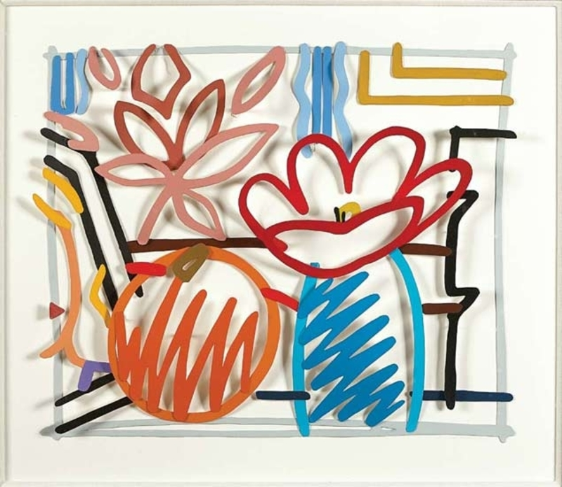 Tom WESSELMANN - Scultura Volume - Maquette for still life with orange and tulip doodle