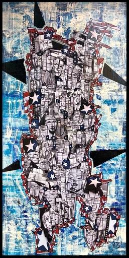GÉBÉ - Peinture - 50 US STARS