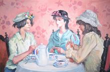 André Eugène Louis CHOCHON - Gemälde - Untitled (Women Weaving)