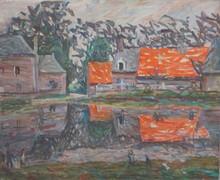 Émile SABOURAUD - Painting - L'étang de Bracquemond