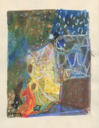 Pierre Emile Gabriel LELONG - Drawing-Watercolor - DESSIN À LA GOUACHE SIGNÉ MAIN HANDSIGNED DRAWING ROIS MAGES